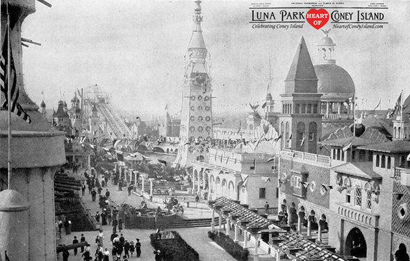 Luna Park Photograph Panoramic Chutes