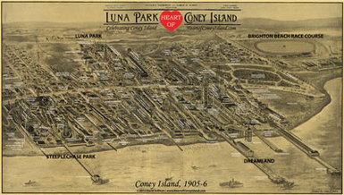 Coney Island Historical Map