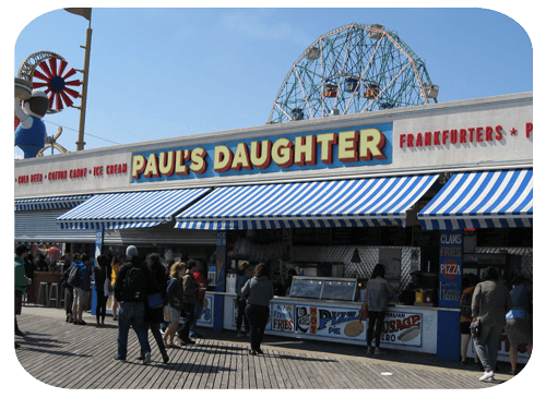 Paul's Daughter Coney Island Boardwalk