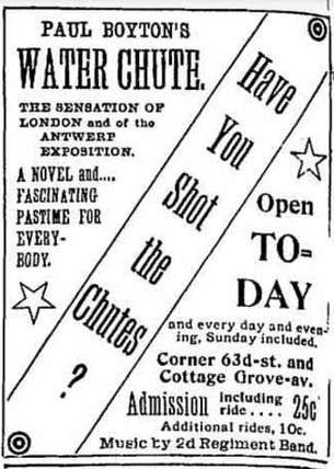 Boyton Chicago Shoot the Chutes Park Advertisement