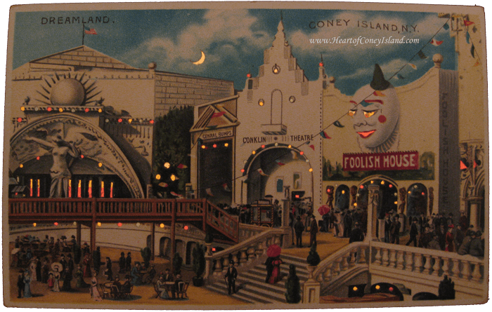 Coney Island Koehler Hold to Light Postcard Dreamland