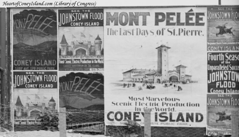 Johnstown Flood Advertisement, Coney Island, 1905