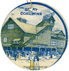 Great Coal Mine Scenic Railway Ticket, Coney Island