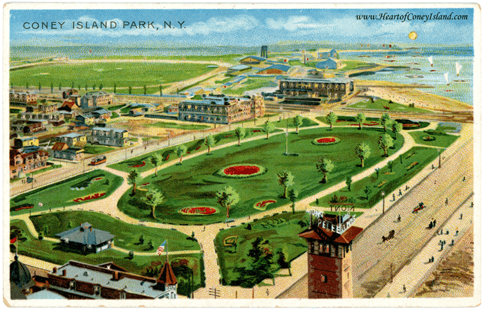 Coney Island Koehler Hold to Light Postcard