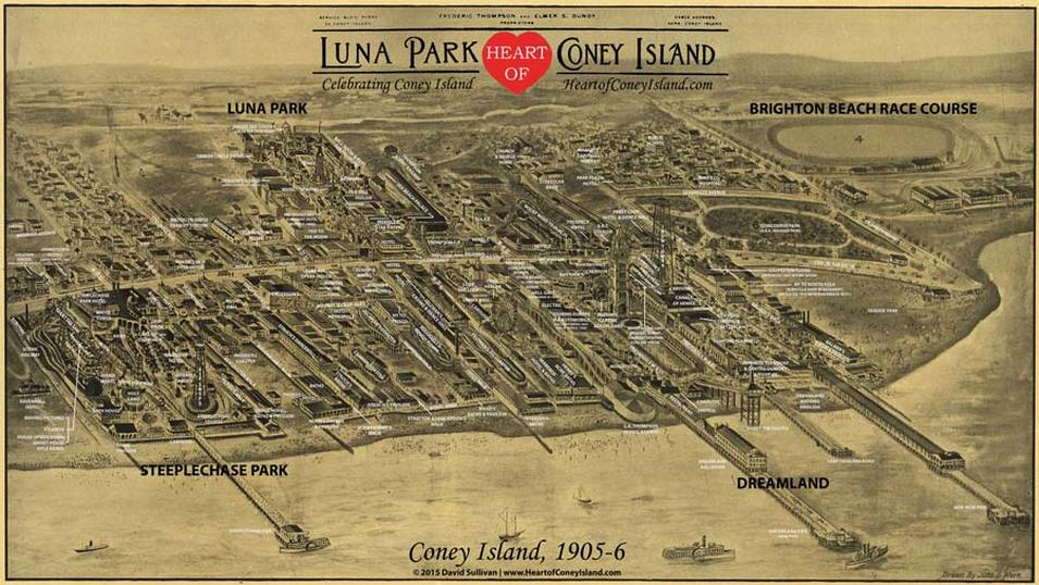 Historical Map Coney Island 1905