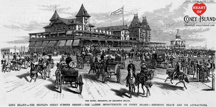 Newly Opened Brighton Beach Hotel 1878